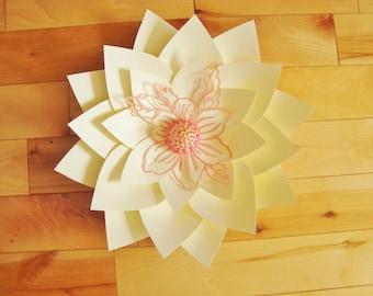 Small Paper Flower - Paper Flower Decor | Flower Wall Decor | Baby Nursery Decor | Rose Wall Art | Home Decor | Wedding Flowers