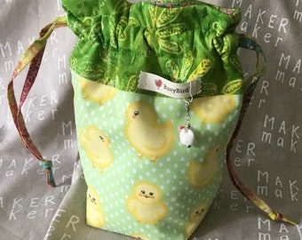 Spring Chic Knitting Project Bag