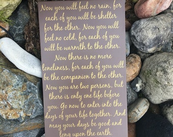 Wedding Blessing Sign Wedding Prayer Wood Sign Apache Blessing Sign Wedding Gifts for the Couple Gift ideas for Bride and Groom