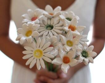 Wedding bouquet alternative Bridal bouquet White wedding bouquet Shabby chic wedding