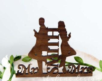 Mr & Mrs Smith  - Event Wedding Cake Topper