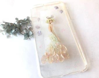 Handmade Phone Case - Flower Girl