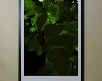"Abstract Composition: NightTree_01_01c - Contemporary Art - Abstract Design - 26"" x 46"" and 13"" x 19"" - Limited Edition Print"