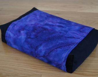 Buckwheat Neck & Back Pillow with Organic buckwheat hull filling with Purple Cloud Batik Cover