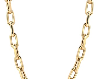 MOTHERS DAY SALE 14k gold large box chain necklace