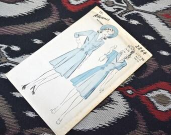 1940s Advance Dress Pattern, #2864, Size 20 (38 Bust, 41 Hip, 32 Waist)