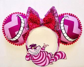 Chestire cat ears, alice ears, alice in wonderland ears, car ears , mouse ears