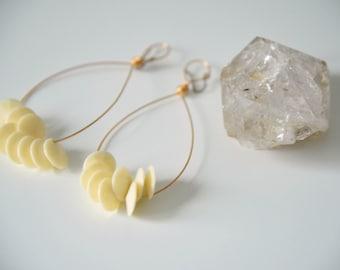 She Sell Sea Shells Hoop Chandelier Earrings