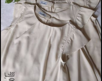 Neroli top embroidered Beige polyester
