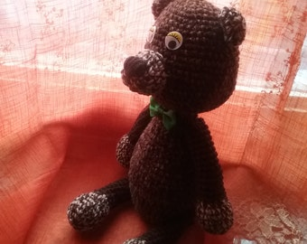 Handmade wool bear