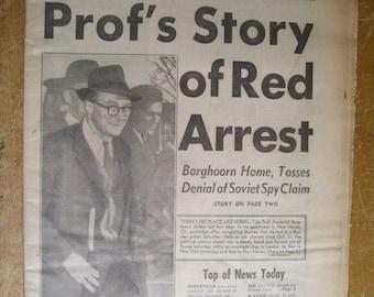November 18 1963 Boston RECORD AMERICAN Tabloid Newspaper