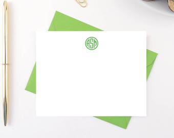 Personalized Stationery / Personalized Stationary / Personalized Stationery Set / Personalized Stationary Set /  Preppy Circle Monogram