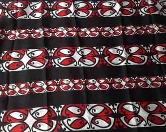 Maori Print Full length Sarong/Pareu/Pareo.