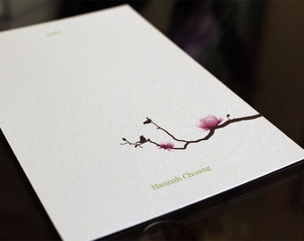 """Personalized Notecards """"Hannah"""" Set of 10"""