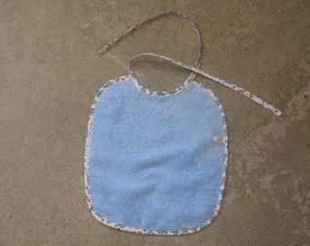 large blue bib, 100% cotton Terry