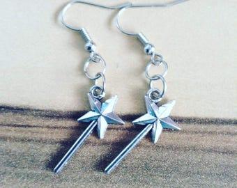 Fairy wand earrings