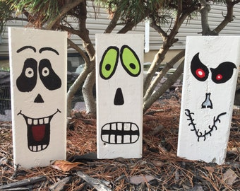 Halloween Decoration Reclaimed Wood Ghost
