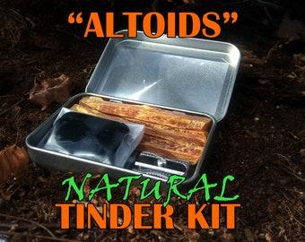 "Natural ""Altoids"" style Tinder Kit"