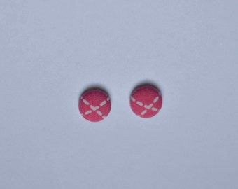 Hot pink with mini heart Earrings