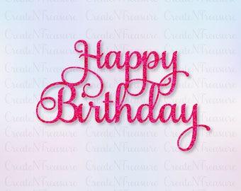 Happy Birthday Fonts ~ Happy birthday svg etsy