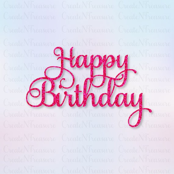 Happy Birthday Cake Topper Cardstock