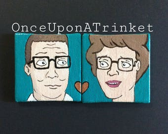 King of the hill inspired true love magnets set