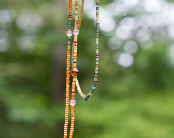 pit bull beaded bohemian necklace