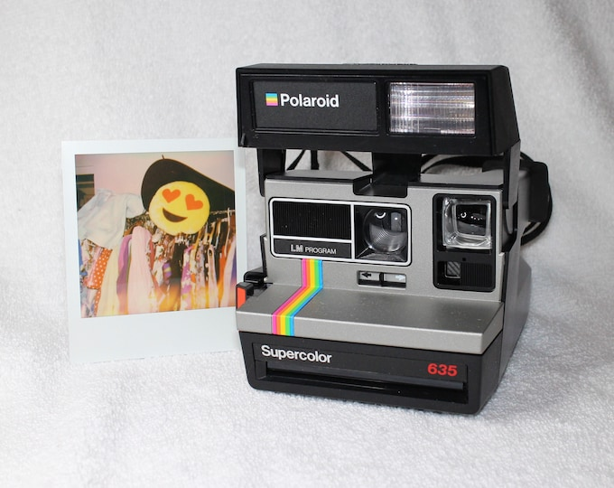 Original Silver with Rainbow Polaroid Supercolor 635 - Works Great, Tested and Cleaned