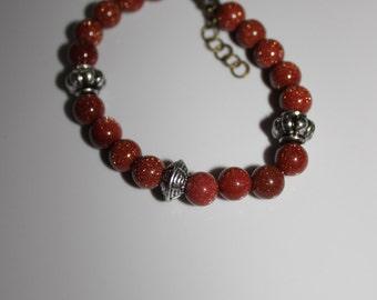 sparkly brown bracelet