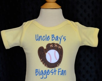 Personalized Baseball and Glove  with monogram Applique Shirt or Onesie Girl or Boy