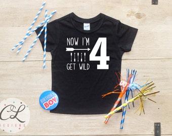 Birthday Boy Shirt / Baby Boy Clothes 4 Year Old Outfit Fourth Birthday TShirt 4th Birthday Boy Outfit Birthday Party Four Shirt Toddler 019