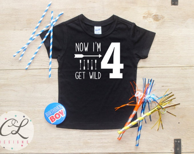 Birthday Boy Shirt / Baby Boy Clothes 4 Year Old Outfit Fourth Birthday TShirt 4th Birthday Boy Outfit Birthday Party Four Shirt Toddler 019
