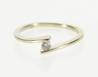 10k Diamond Pressure Illusion Bypass Freeform Ring Gold