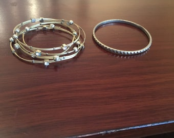 Stackable Gold Bangles