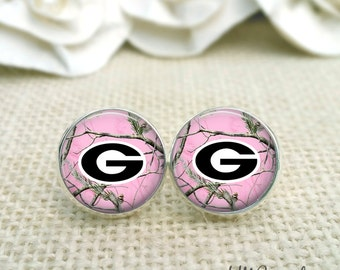 Personalized University of Georgia Earrings, Georgia Bulldog Earrings, UGA Jewelry, UGA Earrings