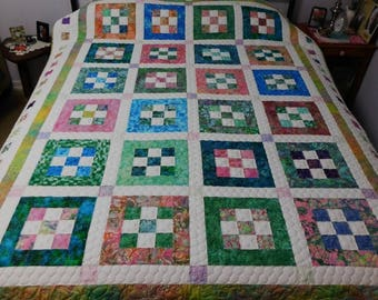 9 Patch Delight Quilt, Sweet Menagerie pattern