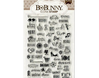 Bo Bunny Icon Stamps Cardmaking Mixed Media Planner Journal