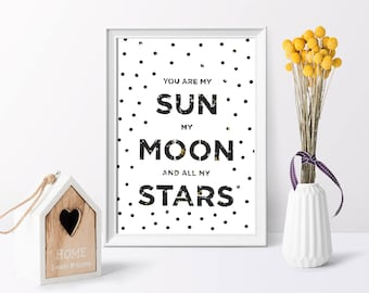 Sun, moon and Stars quote cut-out – Can be personalised