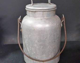 Vintage Wear Ever aluminum milk can with handle