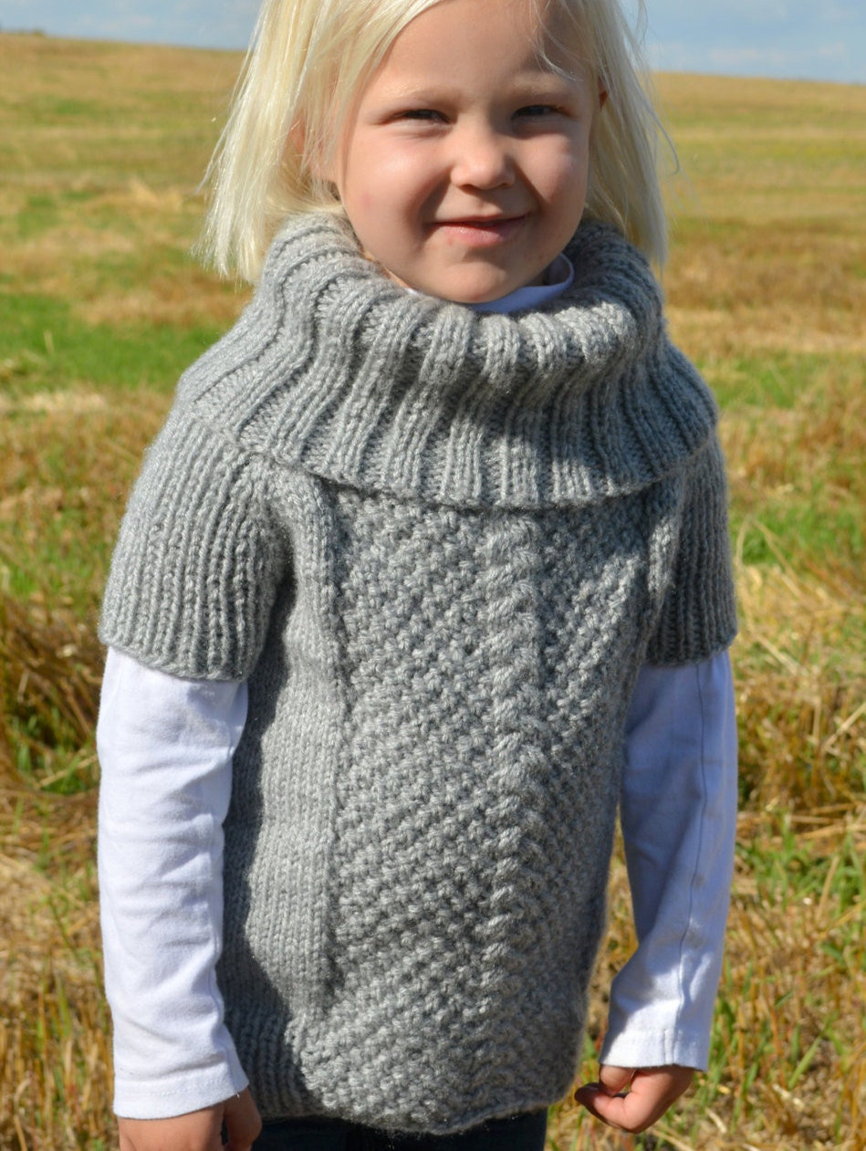 Knitted sweater pattern / Kid\'s knit sweater / Knitting pattern ...