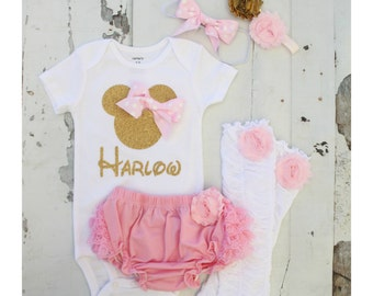 Newborn Baby Girl Coming Home Outfit Minnie Mouse