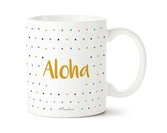 Aloha mug. Pineapple mug