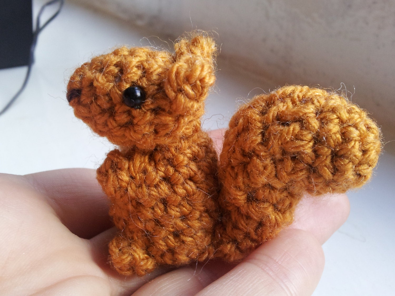 Crochet Squirrel Pattern - amigurumi PDF pattern for simple cute red ...