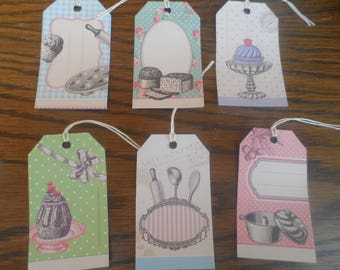 Set of 6 gift tags or other