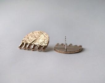 BIG TULIPS stud earrings -sterling silver or bronze