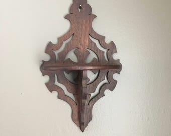 Victorian Walnut whatnot shelf with cross center