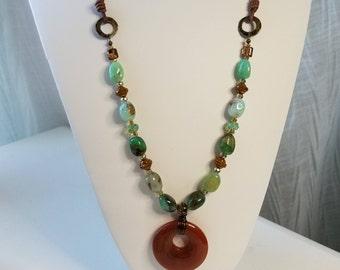 Chrysoprase & Carnelian Necklace