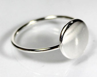 Small Circle Ring, Sterling Silver Ring, Gift Ideas, Statement Ring, Minimal, Modern, Circle, Birthday Gift Ideas