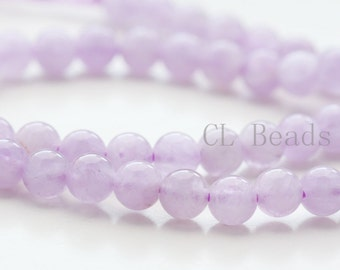 One Strand (15.5 Inches) Lavender Amethyst Stone - Round 6mm( BS120)*