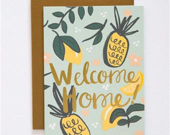 Every day Card - Greeting Card - Welcome Home - Letterpress